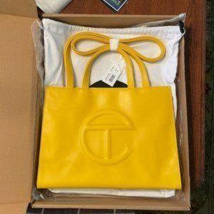 ✨Telfar✨ Medium shopping bag in Yellow goddess